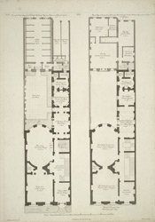 Plan of the parlor story of Sir Watkin Williams Wynn's house in St James's Square